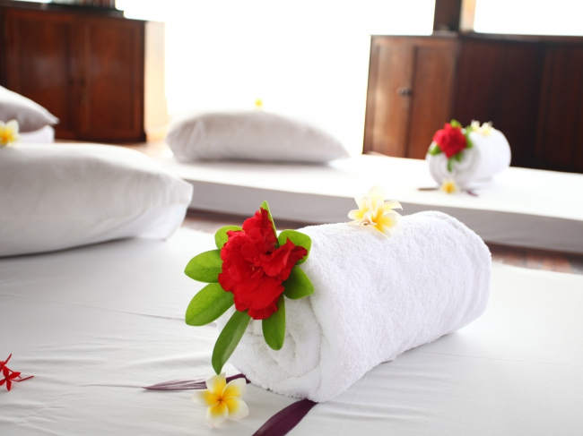 Massage-Pavillion am Strand - Vietnam -