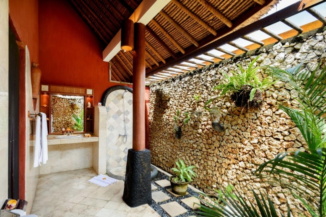 Outdoor-Badezimmer - Indonesien -