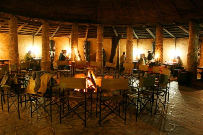 Dinner in unserem Lapa am Abend - Namibia -