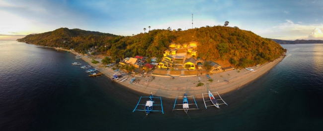 Panorama-Ansicht unseres Resorts (Photo: Carlos Villoch) - Philippinen -