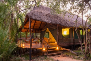 Stilvolle Safari-Lodge am Kafue National Park