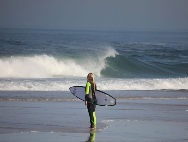 Surfcheck am Strand - Portugal -